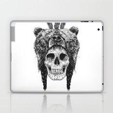 Dead shaman (b&w) Laptop & iPad Skin