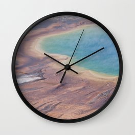 Yellowstone National Park  Panorama Number one  Wall Clock