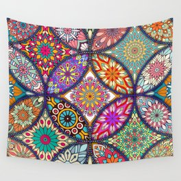 Colorful Mandala Wandbehang