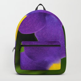 purple and yellow flower Backpack