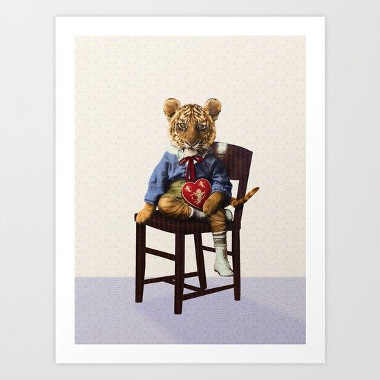 Tiny Tiger Valentine Art Print