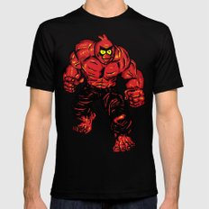 Angry Bird hulk Red MEDIUM Black Mens Fitted Tee