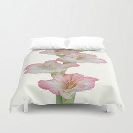 Gladioli Flowers Duvet Cover