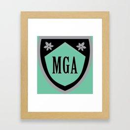 Morning Glories Crest Maroon Framed Art Print