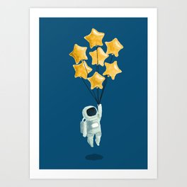 Astronaut's dream Art Print