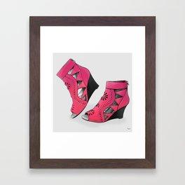 Heart Shoes Framed Art Print