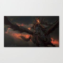 Black Pegasus Canvas Print