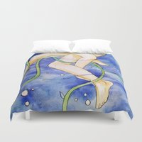 tangled Duvet Covers featuring tangled by Beth Jorgensen