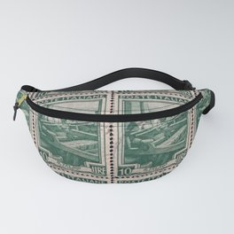 Woman at work, Italian vintage post stamp Fanny Pack