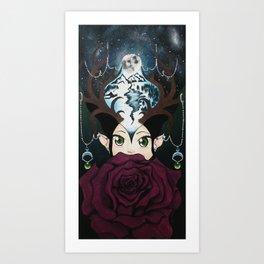 La Lune Rose` Art Print