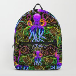 Octopus Psychedelic Luminescence Backpack