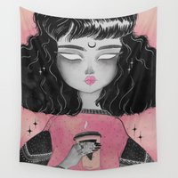 loll3 Wall Tapestries featuring Beverly by lOll3