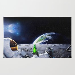 Funny Astronaut with beer Rug