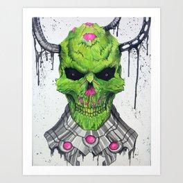 Brainiac Skull Art Print