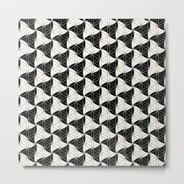 Trinity Pattern Black White Metal Print