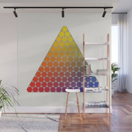 Lichtenberg-Mayer Colour Triangle recoloured remake, based on Mayer's original idea and illustration Wall Mural