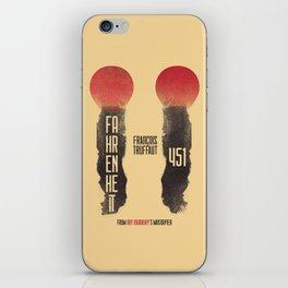Fahrenheit 451, François Truffaut, french movie, british film, Ray Bradbury,  dystopian novel, book iPhone Skin
