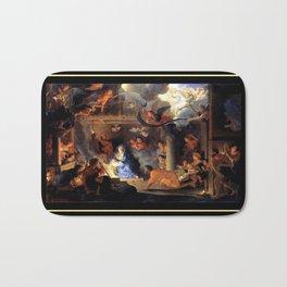 Le brun Adorationof the Shepherds 1689 – natividad,nativité, christ,gospel. Bath Mat