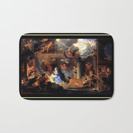 Le brun Adoration of the Shepherds 1689 – natividad,nativité, christ,gospel. Bath Mat