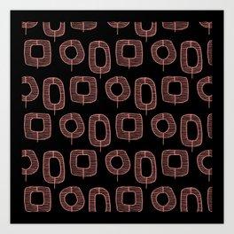 Mid-Century Trees   Groove Hedge Art Print