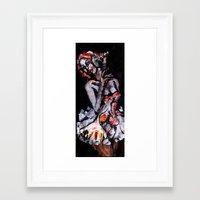 moulin rouge Framed Art Prints featuring Moulin by Aksel Klintmalm