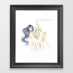 plants awoke Framed Art Print