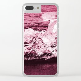 red ice. Clear iPhone Case