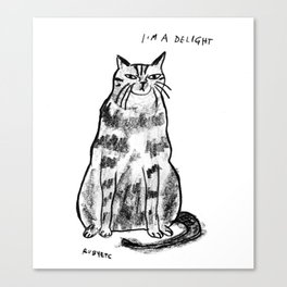 I'm a delight Canvas Print