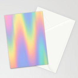 Rainbow Pastel Wavy Stationery Cards