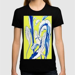 Plant in Blue Marker - Leaf of Life Miracle Leaf - Yellow T-shirt