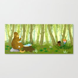 Bigfoot Busted Canvas Print