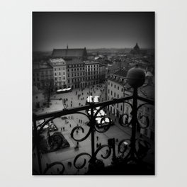 Red Umbrella on Holiday in Krakow  Canvas Print