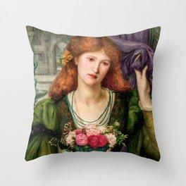 "Marie Spartali Stillman ""Luisa Strozzi"" Throw Pillow"
