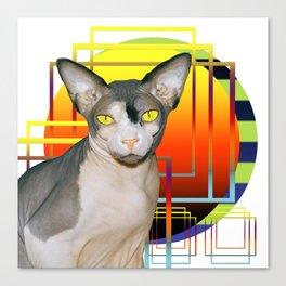 Vamp Sphynx Cat (white) Canvas Print