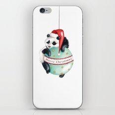 Christmas Panda iPhone Skin