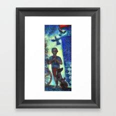 Musician kid. Framed Art Print