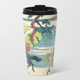 Katsushika Hokusai - Sekiya Village on the Sumida River Travel Mug