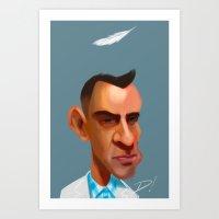 forrest gump Art Prints featuring Gump by Don Dixon