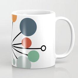 Atomic Age Nuclear Abstract Motif — Mid Century Modern Pattern Coffee Mug