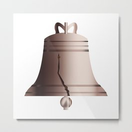Liberty Bell With Crack Metal Print