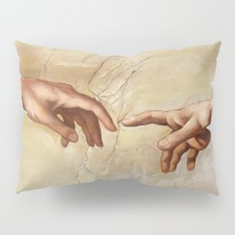 "Michelangelo ""Creation of Adam""(detail) Pillow Sham"