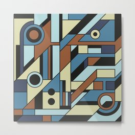 De Stijl Abstract Geometric Artwork 3 Metal Print