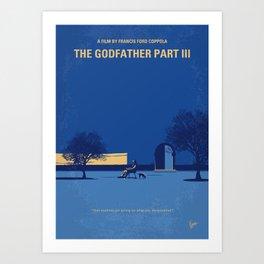 No686-3 My Godfather III minimal movie poster Art Print