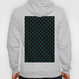Cyan on Black Snowflakes Hoody