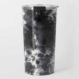 Cowhide black and white | Textures Travel Mug