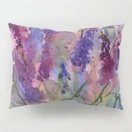Delphinium Blues, from my original watercolor Pillow Sham