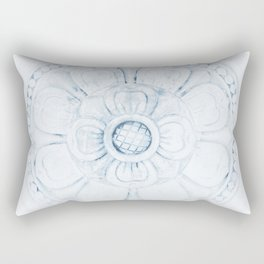 Flower Design Rectangular Pillow