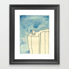 Bear on ice Framed Art Print