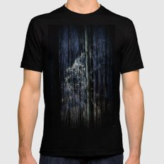 Late Fall In The Forest Mens Fitted Tee MEDIUM Black