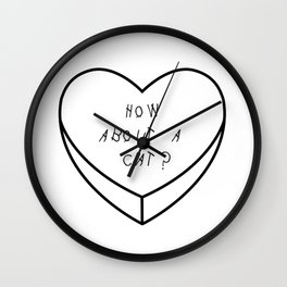 Mean Candy Heart Pt. 1 Wall Clock